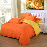 Plain Dyed Duvet Set (Orange Reverse Yellow)