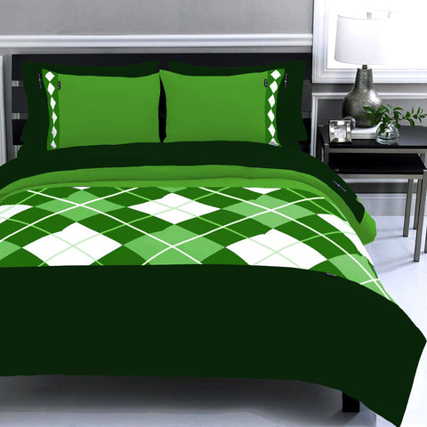 Diamond duvet set Green