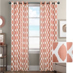 Printed Curtain With Lining