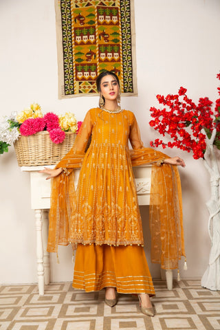 Embroidered 4Pcs suit (unstitched) AEL-20301