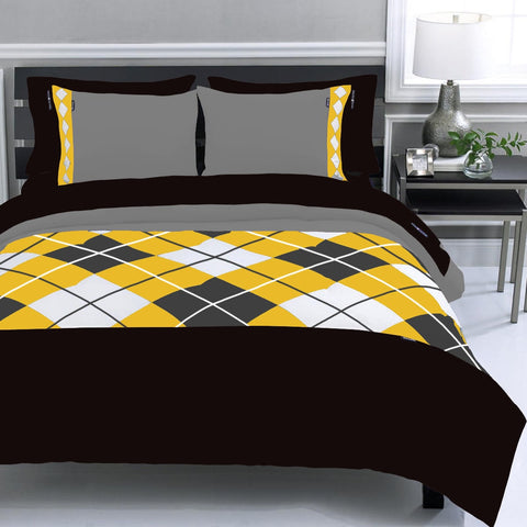 Diamond duvet set Yellow