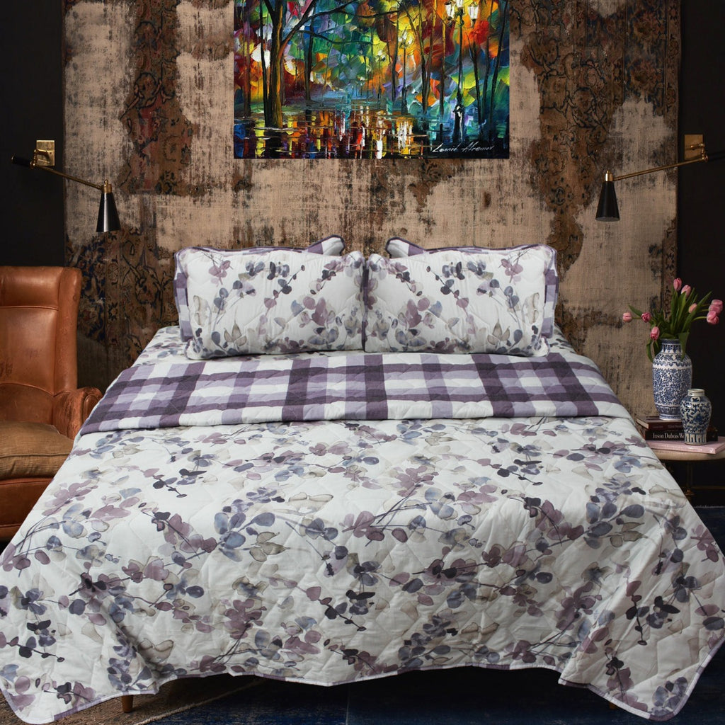 Printed Bedspread With Reversible Print 02