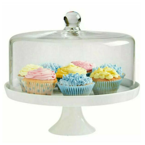 Cake Plate with Plastic Lid