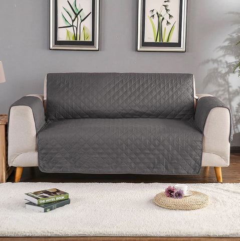 Grey Quilted sofa Protector