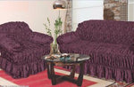 Silk Sofa Protector purple