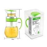 Qisc Vinegar Bottles - No Drip Handle Quantify Olive Oil Bottle Pot