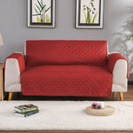 Red Quilted sofa Protector