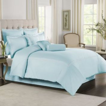 Sky Blue With White Baratta Stitch Duvet Set