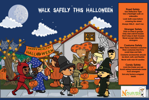 Halloween Safety Tips Poster