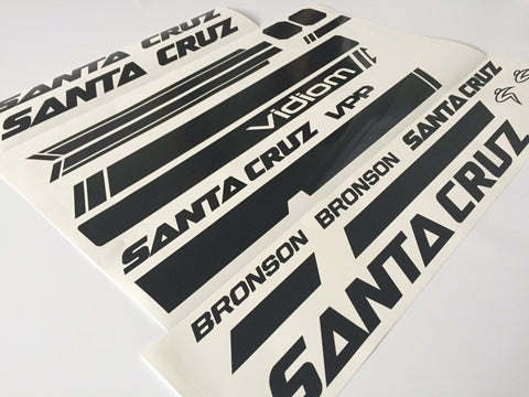Santacruz Nomad CC 650b 2016 frame decal kit