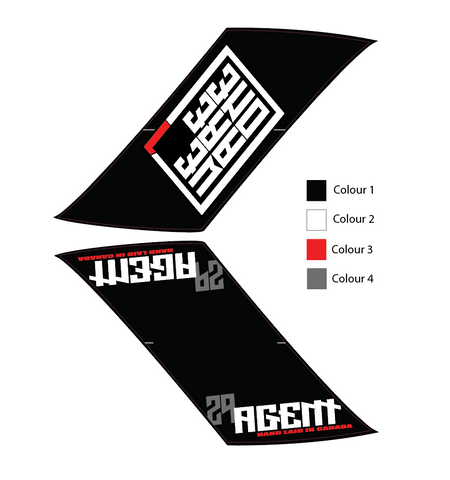 "We Are One Agent 27.5"" Wheel Decals"