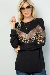 Leopard Black/Sequin Sweater