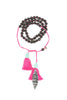Mamapacha Black with Hot pink tassel