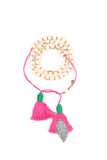 Mamapacha White with Pink tassel