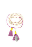 Mamapacha White with lavender tassel