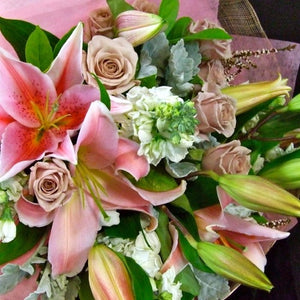 Pink Bouquet delivered Sunshine Coast ~ Pink Blossoms