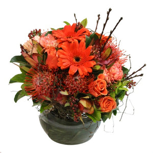 Orange Flowers delivered Sunshine Coast