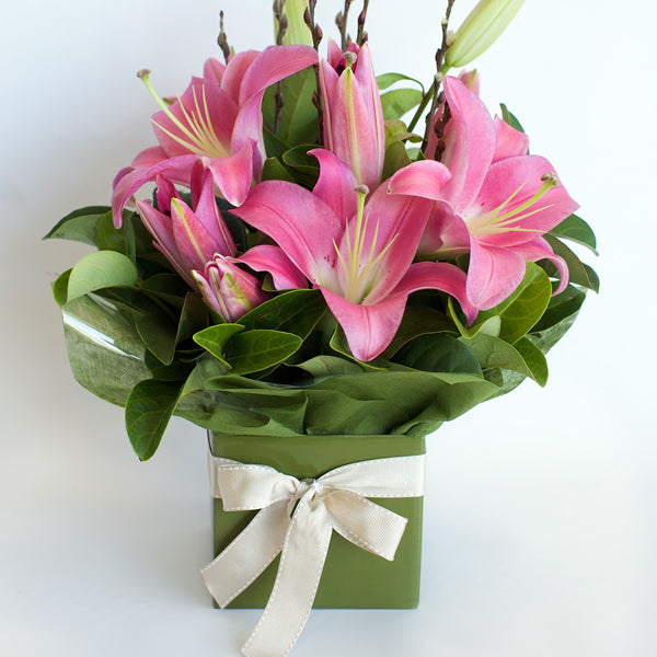 Pink Lily Box Delivered Sunshine Coast