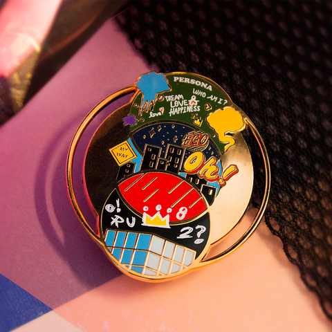 [BTS] Map of the Soul Rapline Enamel Pin