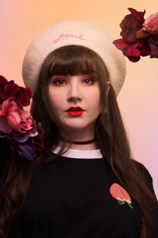 """peach HEROINE"" Beret (2 Colors)"