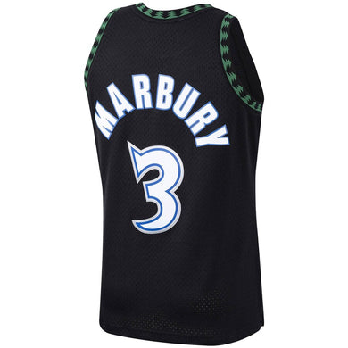Stephon Marbury Minnesota Timberwolves 1997-98 Hardwood Classics Swingman Player Jersey - Black