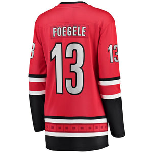 Warren Foegele Carolina Hurricanes Women's Home Breakaway Player Jersey - Red