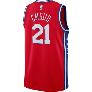 Joel Embiid Philadelphia 76ers Red Swingman Jersey - Statement Edition