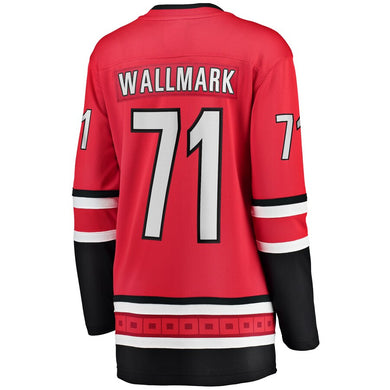 Lucas Wallmark Carolina Hurricanes Women's Home Breakaway Player Jersey - Red