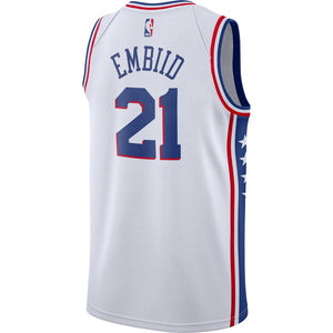 Joel Embiid Philadelphia 76ers White Swingman Jersey - Association Edition