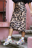 Holiday Wind Leopard Skirt white s