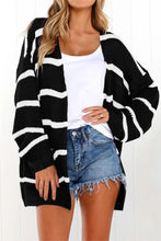 Striped Pocket Cardigan