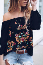 Shoulder Embroidery Middle Sleeve Ladies Leisure Snow Spinning Shirt