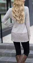 Fashion Stacked Collar Long Sleeve Split Medium Length Blouse