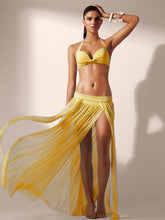Split Floor-length Cover-Up Swimwear Skirt