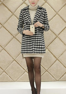 Autumn And Winter   Fashion Thousand Birds Style Coat Same As Photo l