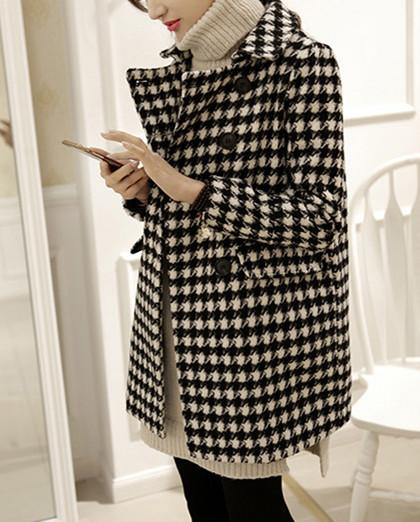 Autumn And Winter   Fashion Thousand Birds Style Coat Same As Photo m