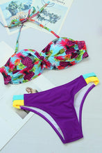 Sexy Bikini Digital Print Split Swimsuit