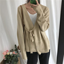 Fashion Long Sleeve Thick Frenulum Knitted Cardigan