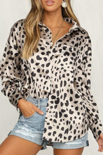 Trendy Leopard Print Long-Sleeved Shirt