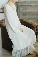 Comfortable Loose Lace Bowknot Long-Sleeve Dress