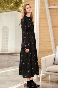 Stylish Vovo Floral Printed Retro Bandage Maxi Dress