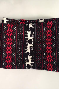 Christmas Snowflakes   fawn stretch leggings Tight pants Black one size