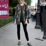 Stylish New Arrival Loose Embroidery Long Sleeve Suit Cardigan