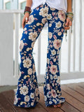 Popular Floral Printed Bell-Bottom Pant RED S