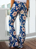 Popular Floral Printed Bell-Bottom Pant BLACK S