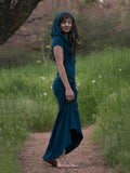 Solid Color Vintage Sleeveless Maxi Dress DEEP-BLUE S