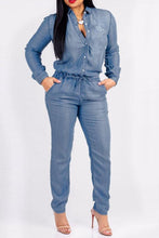 Fashion Buttons Design Denim One-piece Jumpsuits