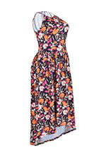 Casual Floral Printed Mid Calf Dress