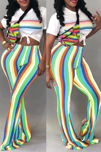 Roaso Casual Striped Pants M Multi