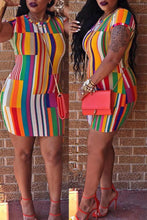 Trendy Striped Mini Dress